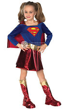 CHILD DELUXE SUPERGIRL FANCY DRESS BOOK WEEK COSTUME 3 SIZES