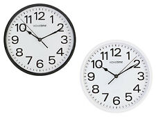 Hometime Plastic Wall Clocks White Black Kitchen Home Silent Sweep Wall Clock