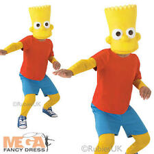 Bart Simpson Boys Fancy Dress The Simpsons Cartoon TV Show Kids Childs Costume