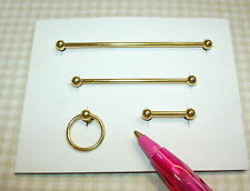 Miniature Brass Towel Rack Set, 4-Piece for DOLLHOUSE Miniatures 1/12 Scale