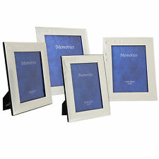 SECONDS Silver Plated Metal Photo Picture Frame 2 Tone Engraved Hearts & Swirls
