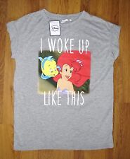 DISNEY THE LITTLE MERMAID ARIEL I WOKE UP LIKE THIS T Shirt Top Primark UK 6-20