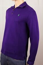 Polo Ralph Lauren Purple 1/2 Half Zip Sweater Green Pony NWT