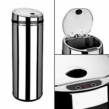 Dihl 30L 42L 50L Origin Round Chrome Kitchen Waste Automatic Sensor Bin