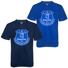 Everton FC Official Football Gift Boys Kids Crest T-Shirt