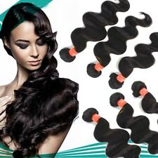 3 bundles 300g full head virgin human hair brazilian/peruvian/indian hair weft