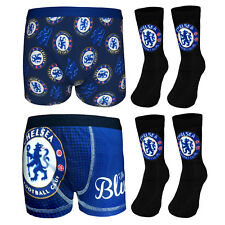 Chelsea FC Official Football Gift Set Boys Socks & Boxer Shorts