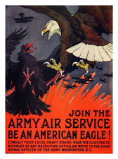 Join The Army Air Service Charles Livingstone Bull War Poster Print