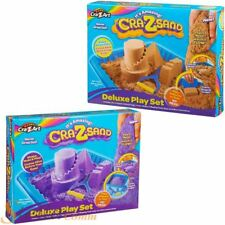 Cra-Z-Sand Deluxe Playset Kids Shape Mould Mess Free Magic Play Sand Tray