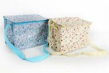 Shabby Chic Vintage Ditsy Floral Insulated Cooler Bag Lunch Box Cream Or Blue