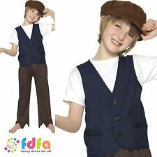 VICTORIAN POOR PEASANT CHIMNEY SWEEP - age 4-12 - kids boys fancy dress costume