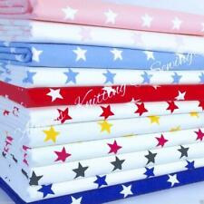 Per half metre/fat quarter  cotton poplin  star fabric 100 % cotton poplin