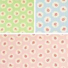 Pink Roses Floral Blooming Clouds 100% Cotton Poplin Fabric Craft Material