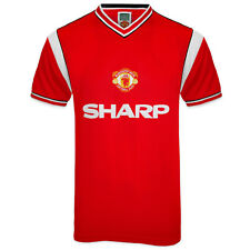 Manchester United FC Official Football Gift Mens 1985 Retro Home Kit Shirt Red