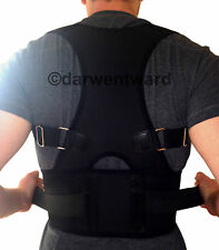 NEW BACK SUPPORT BRACE POSTURE CORRECTION ADJUSTABLE NEOPRENE VEST BELT
