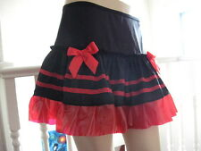 NEW Cool Black Red Transparent Pvc  Lace Mini Skirt Clubwear Punk Goth Party