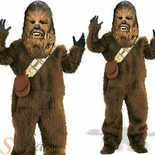 Boys Deluxe Chewbacca Wookie Star Wars Kids Fancy Dress Costume Outfit
