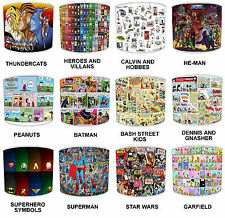 Children`s Lampshades Ideal To Match Old Comic Book Duvets & Super Heroes Duvets