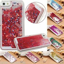 Glitter Stars Bling Dynamic Liquid Quicksand Hard Cover Case iPhone 4s,5s,6,Plus