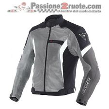 Giacca estiva traforata Dainese Air Crono Tex antracite black moto summer jacket