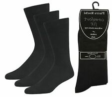 Mens Pierre Roche Comfort Fit Non Elastic Top Socks Pack of 3 Style- 40B338