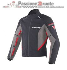 Giacca Dainese Rainsun ddry nero dark-gull-gray rosso black red moto jacket