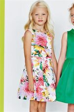 Bnwt NEXT Girls Tropical Prom Party Dress Birds Flowers Stunning! 6-7-8 yrs