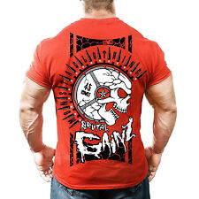 Monsta Clothing Bodybuilding Gym Brutal Gainz Graphic Ultra Soft Mens T Shirt