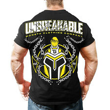 Monsta Clothing Bodybuilding Gym Unbreakable Graphic Ultra Soft Mens T shirt NEW