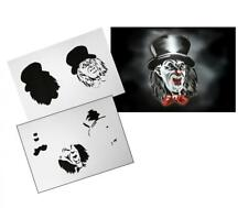 Step by Step Stencil AS-108 Clown ~ UMR Airbrush Schablone