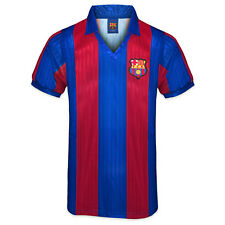 FC Barcelona Official Football Gift Mens 1992 Retro Home Kit Shirt Red Blue