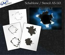 Step by Step Stencil AS-143 elevation ~ UMR Airbrush Schablone