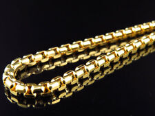 Solid 14K Yellow Gold 3.5MM Rolo Chain Necklace Lobster Clasp 20-26 Inches