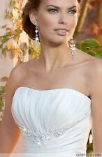 New white Or ivory Wedding Dresses Bridal Dress Gown Gstock size-6-8-10-12-14-16