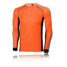 Helly Hansen Warm Ice Herren Funktionsshirt Langarm Laufshirt Sportshirt Orange