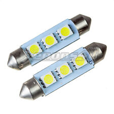 2x 42-44mm 3 SMD LED Interior Dome Trunk Festoon Light Bulbs Canbus Error Free