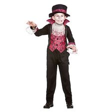 Boys Victorian Vampire Costume for Halloween Dickensian Edwardian Fancy Dress