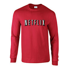 Netflix Long Sleeve Movie Night Halloween TShirt Costume Netflix and Chill Tee