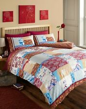ORIENT DUVET COVER ETHNIC ORIENTAL PATCHWORK QUILT COVER BEDDING BED SET RED NEW