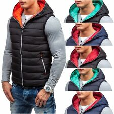 S-WEST 2232 Steppweste Kapuze Zipper Bodywarmer Sweatjacke Herrenjacke 4D4 Weste