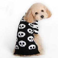 Pet Dog Puppy Skull Pattern Turtleneck Sweater Coat Clothes Apparel Size XXS-M