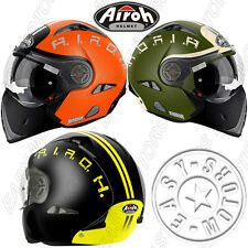 AIROH CASCO MODULARLINE J 106 SMOKE ARANCIO LUCIDO / ORANGE GLOSS , VERDE OPACO