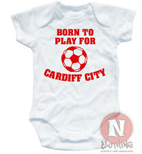 Traje bebe futbol blanco Born Play For Cardiff City ropa Naughtees