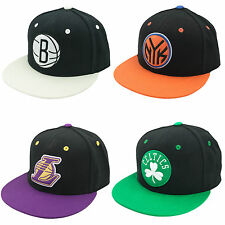 Adidas NBA Basketball Fitted Team Cap Kappe Knicks Nets Celtics LA Lakers