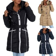 H433 Damen Winter Jacke Steppjacke Parka Jacket Daunen Look Winterjacke