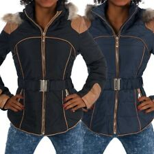 H455 Damen Winter Jacke Steppjacke Parka Jacket Daunen Look Winterjacke