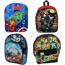 MARVEL CHARACTER AVENGERS BACKPACK SCHOOL KIDS RUCKSACK BOYS