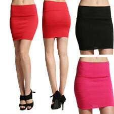 MOGAN Bandage Pencil HIGH WAISTED SKIRT Bodycon Fitted Stretch Sweater Knit Mini