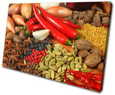 Food Kitchen Spices Peppers SINGLE LONA pared arte Foto impresion