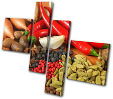 Food Kitchen Spices Peppers MULTI LONA pared arte Foto impresion